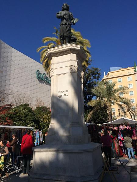 La Plaza del Duque de la Victoria, in the shopping district of the old city.