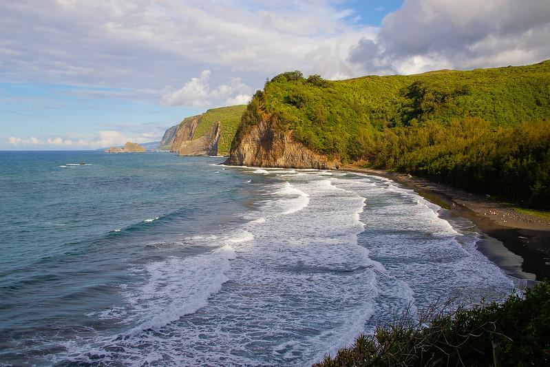Black sand Beach, Big Island Hawaï, USA