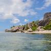 La célèbre plage d'Anse source d'argent