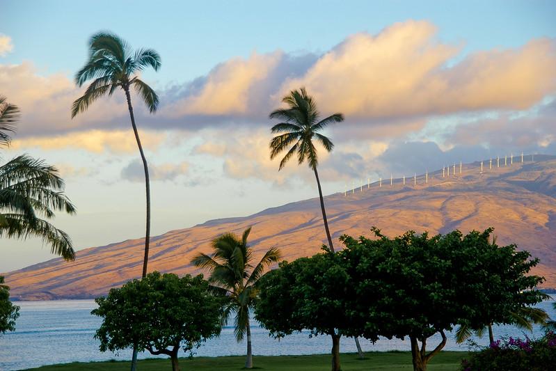 Eoliennes sur Maui, Hawaï, USA