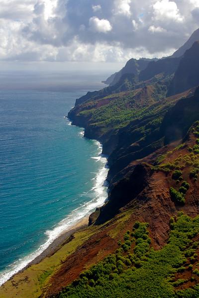 La côte de Na Pali de Kauaï , Hawaï, USA