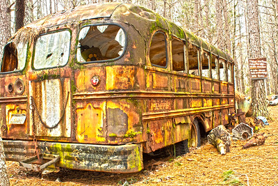 Vintage Rusted out School Bus