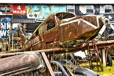 Rusty Vintage Plane