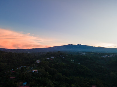 Early Morning sunrise over the Poas Volcano in Costa Rica