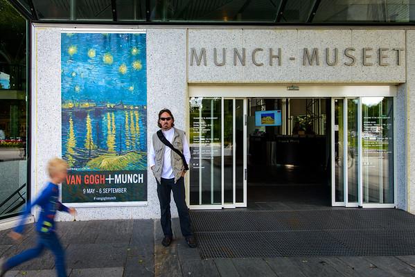 Hugh at Munch Museum, Oslo Norway