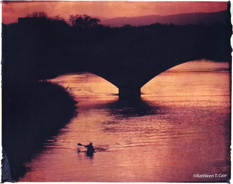 Kayaker on Arno, Florence
