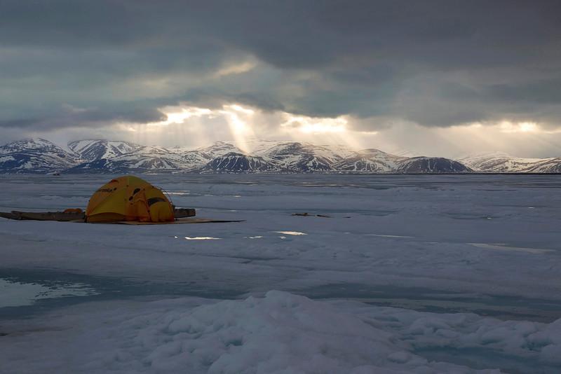 Midnight at Baffin Island. John Chapman.
