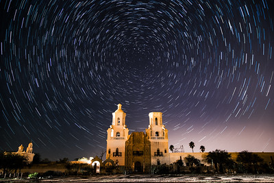 San Xavier Star Trails