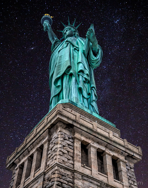 Statue of Liberty Night composite