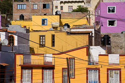 Buildings on a hillside in Guanajuato, Mexico