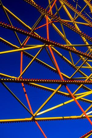 Ferris wheel structure at Marin County Fair