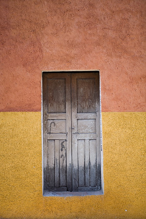 Colorful wall and doorway in San Miguel de Allende