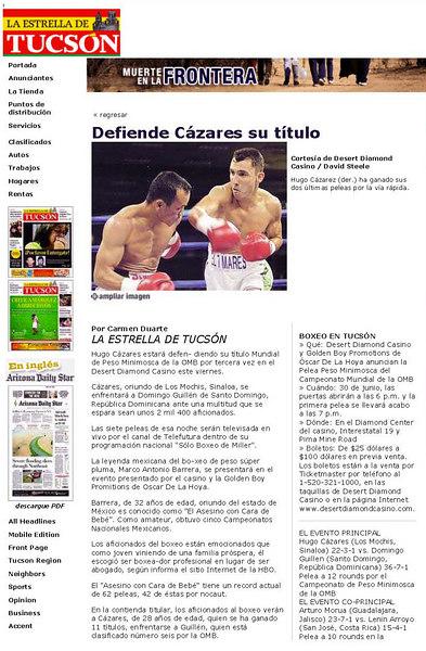 June 28 La Estrella De Tucsón _ www azstarnet_Page_1