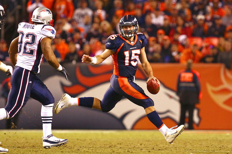 Dec 18 2011; Denver, CO, USA; during the fourth quarter of the game against the New England Patriots at Sports Authority Field. The Patriots defeated the Broncos 41-23. Mandatory Credit: Ron Chenoy-US PRESSWIRE