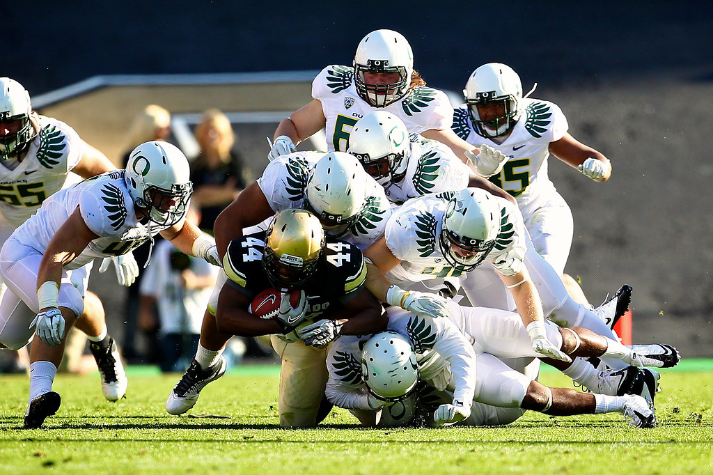 The Colorado Buffaloes hosted the #10 ranked Oregon Ducks at Folsom Field in Boulder, CO.