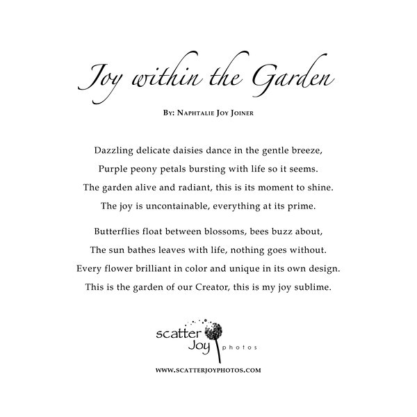 Joy within the Garden Poem