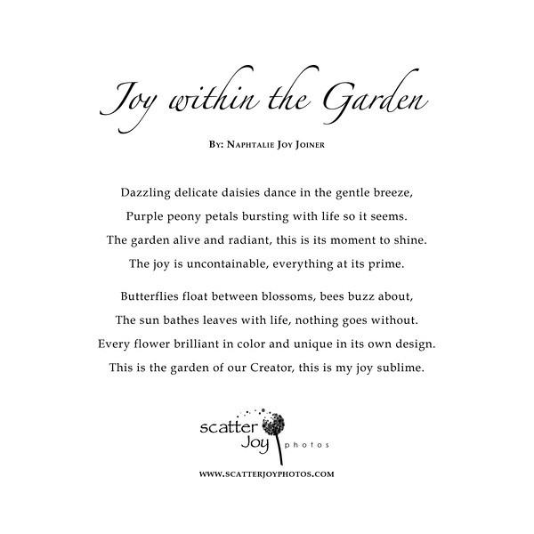 Joy within the Garden Poem