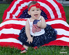 Baby Girl | Fourth of July | Six Months