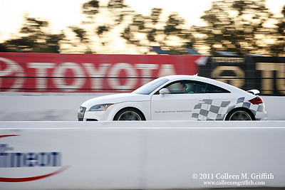 The Need For Speed ©  2011 Colleen M. Griffith. All Rights Reserved. This material may not be published, broadcast, modified, or redistributed  without written agreement with the creator.  This image is registered with the US Copyright Office. www.colleenmgriffith.com www.facebook.com/colleen.griffith  I captured this photo at a corporate outing to the Infineon Raceway.  It's a professional course and NASCAR's 23rd consecutive visit to the Sonoma Valley is headlining the 2011 racing season. The seven-race major event schedule, one of the most comprehensive in the country, will be highlighted by three of the top racing series in the country - the NASCAR Sprint Cup Series, NHRA Full Throttle Drag Racing Series and IZOD IndyCar® Series.  More than one-half million fans pass through the gates each year.  The road course features more than 160 feet of elevation change from its highest to lowest points. The highest point at Turn 3a reaches 174 feet, while the lowest point at Turn 10 is just 14 feet.