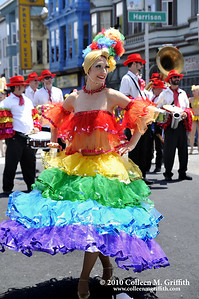 Colorful Carnaval © 2010 Colleen M. Griffith. All Rights Reserved.  This material may not be published, broadcast, rewritten, or modified in any way without permission. www.colleenmgriffith.com www.facebook.com/colleen.griffith  The Carnaval celebration and parade is California's largest multi-cultural celebration, and one of San Francisco's most popular and cherished traditions. It showcases the very best of Latin American and Caribbean cultures with a dynamic array of food, music, drumming, dancing, live music, and artistry.