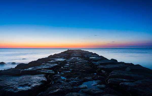 Dawn on Block Island Jetty