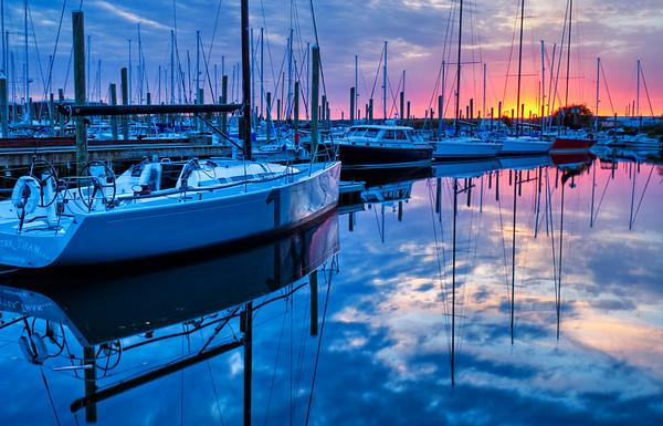 Sunset Over Melville Marina, RI