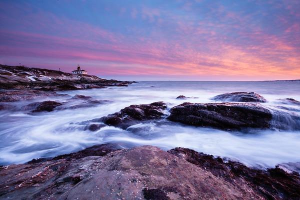 Beavertail Lighthouse Sunset, RI