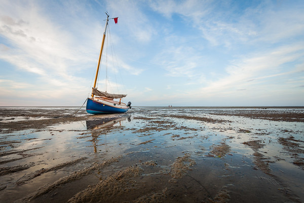 Cat Boat at Low Tide