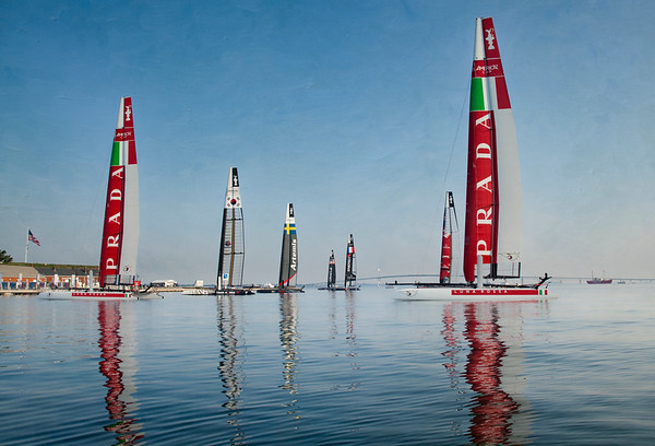 Americas Cup World Series 2012 /Reflection
