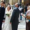 Wedding interrupted by beggar, Naples, Italy