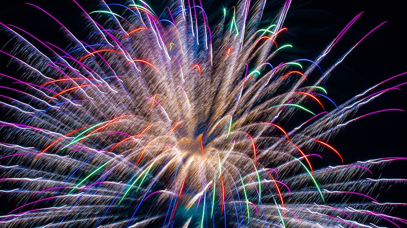 Colorful Fireworks, Romeoville, Illinois