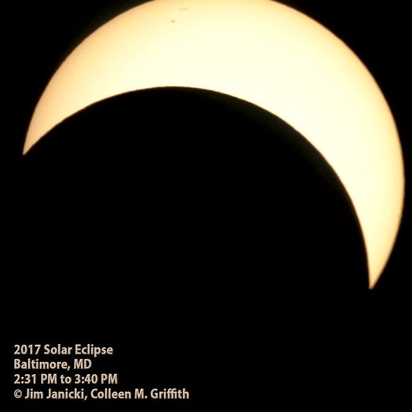 2017 Solar Eclipse videoed near Baltimore MD