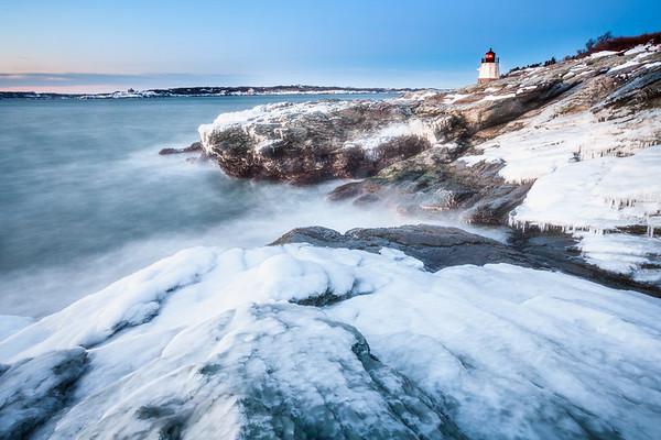 Winter on Narragansett Bay, Newport RI.