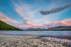 Pink Candy Cotton Clouds at Lake Tekapo