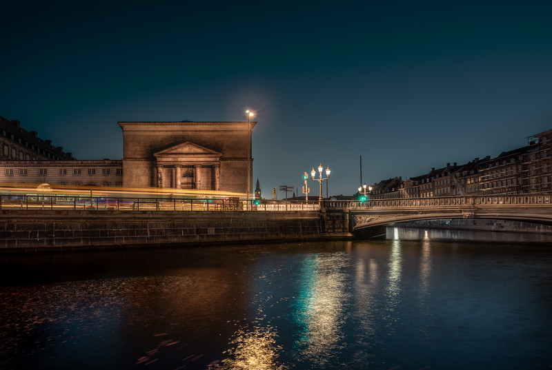 An almost reflection of Thorvaldsens museum in Copenhagen. It is put together from 8 exposures.