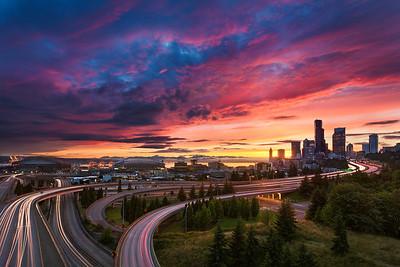 Seattle Summer Sunset