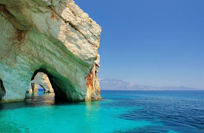 Blue caves in Zakinthos..