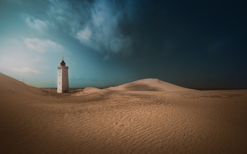 Rubjerg Knude Lighthouse wil fall into the sea in a few years. It will be a loss of a pearl of beauty when it happens. Limited Fine Art Prints available.
