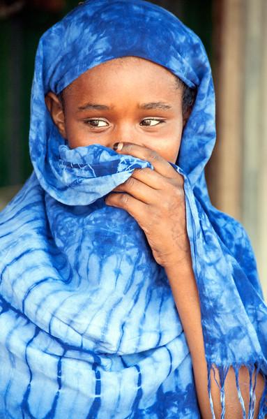 Khat sales girl in rural Somaliland