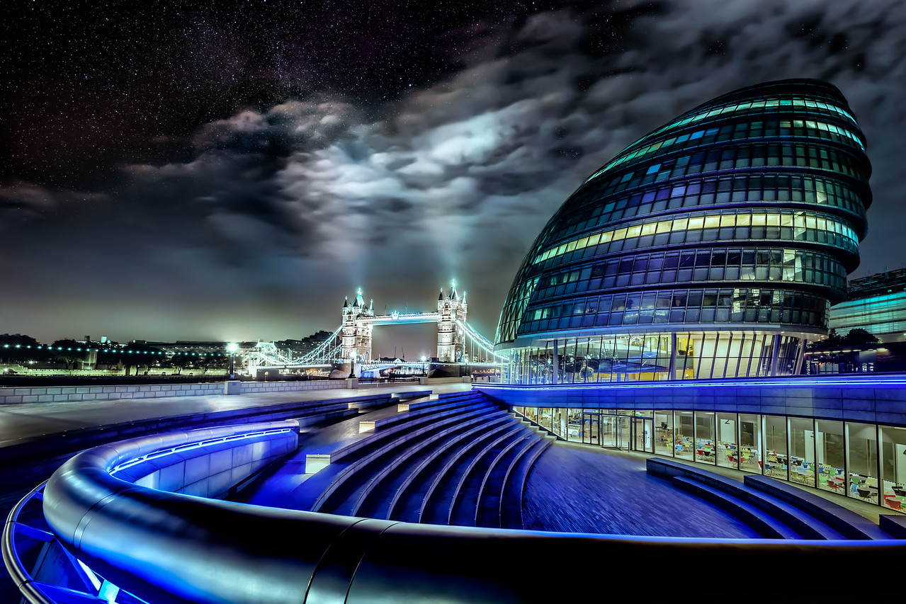 Tower Bridge and City Hall under the Stars