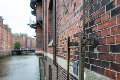 Old building in the Hafencity Warehouse district in Hamburg