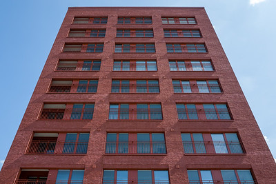 Red building in Frankfurt