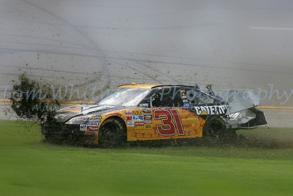 Jeff Burton spins at Talladega Superspeedway.