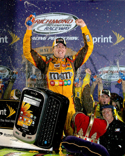 Kyle Busch in Victory Lane.