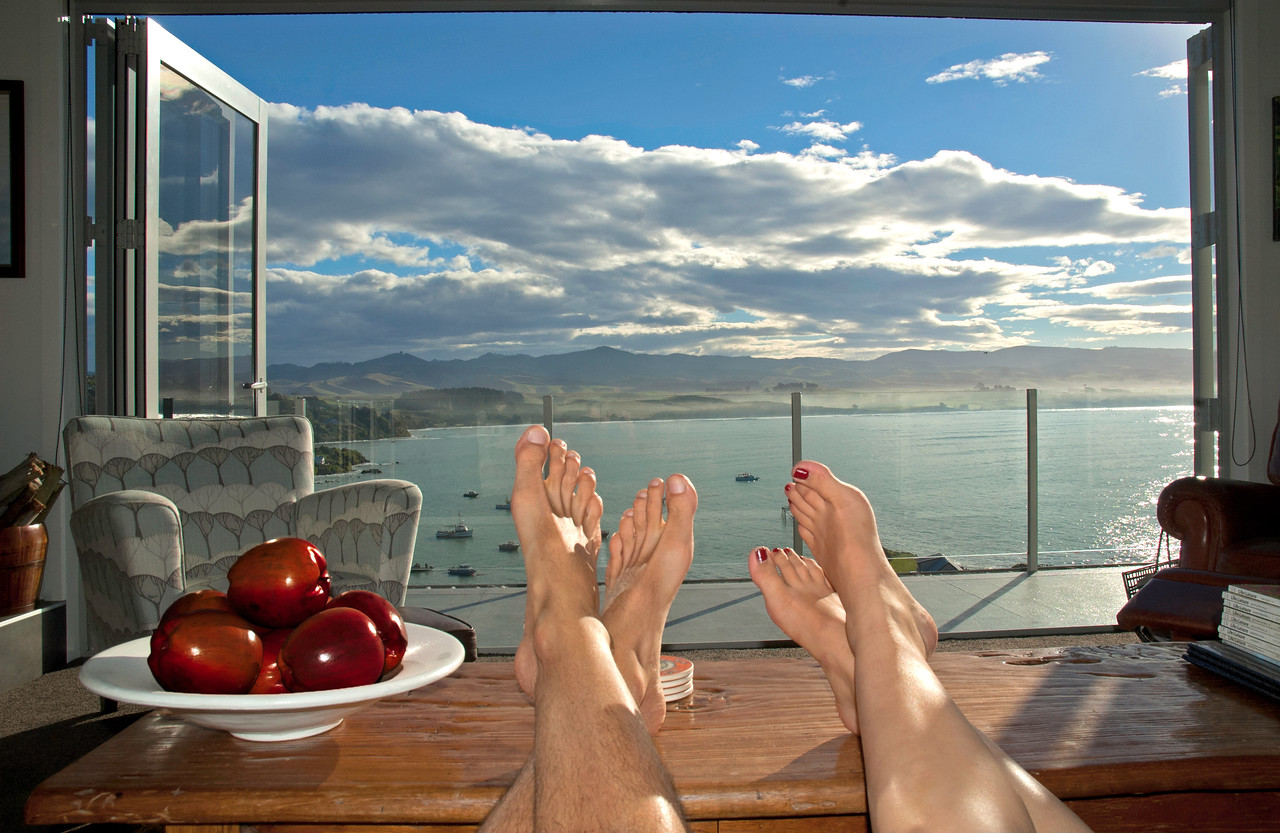 Room with a view. Moeraki New Zealand