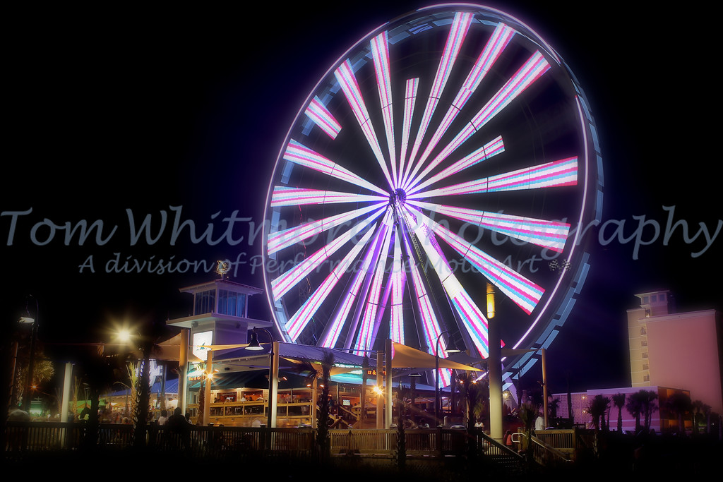 Myrtle Beach SkyWheel at night.