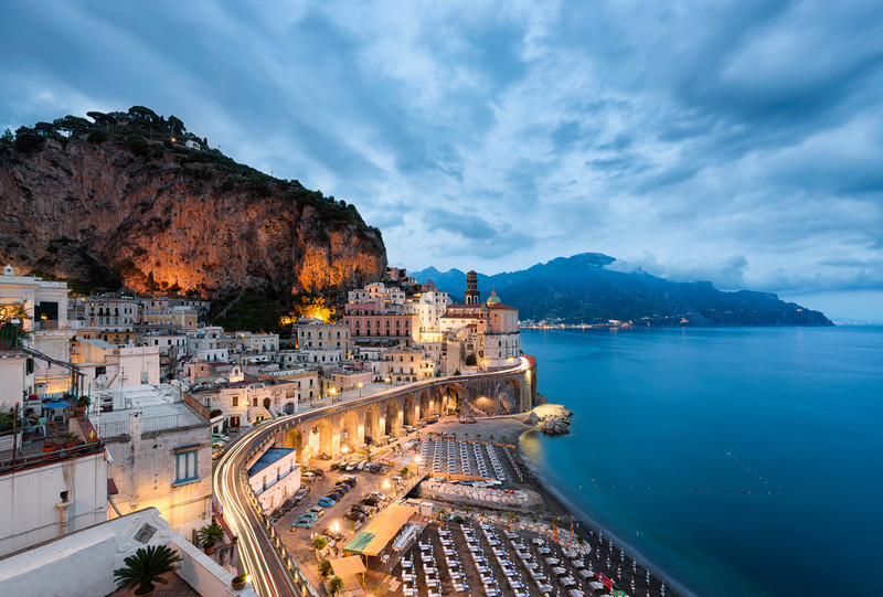 Atrani By Night    Amalfi Italy