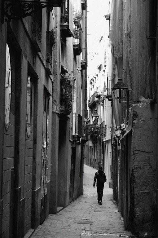 Backstreet in Barcelona..