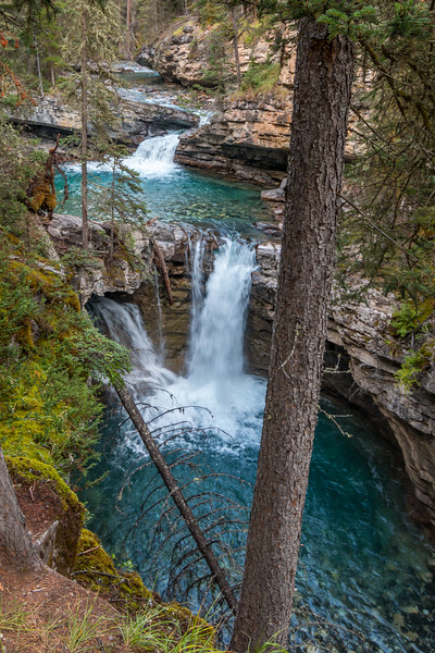 Johnston Canyon Cascading Falls