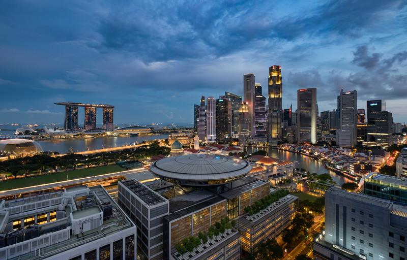 Singapore by Night    Singapore